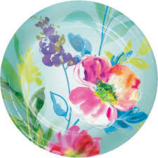 Painterly Floral Plates