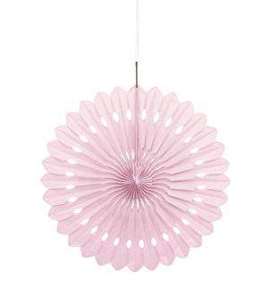 Tissue Paper Fan Pale Pink - 40cm