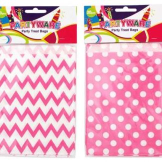 Paper Loot Bags Pink Spots or Chevron