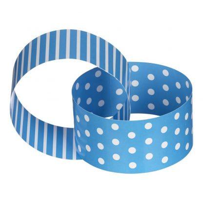 Paper Chain Blue & White Dots & Stripes
