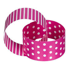 Paper Chain Pink & White Dots & Stripes
