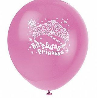 Party Princess Balloons 8pk