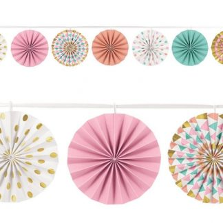 Pastel Mini Fan Garland
