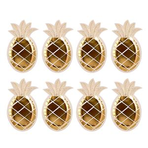 Gold Pineapple Plates 8pk