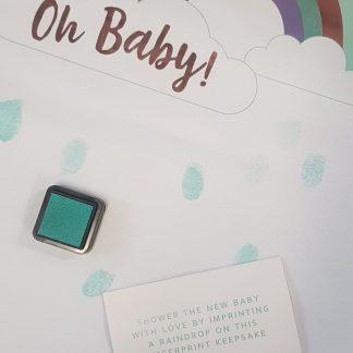Baby Shower Fingerprint Keepsake
