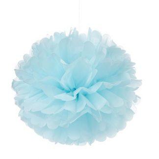 Tissue Paper Pom Pom 45cm - Pale Blue