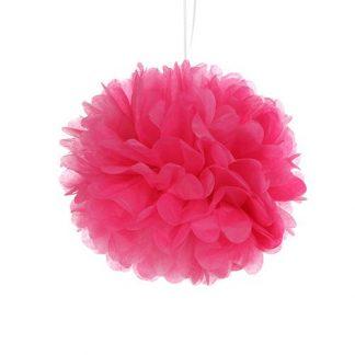 Tissue Paper Pom Pom 45cm - Hot Pink