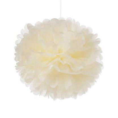 Tissue Paper Pom Pom 45cm - Ivory