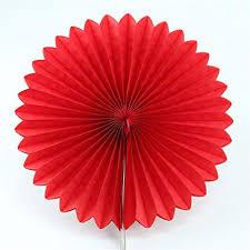 Tissue Paper Fan Red- 25cm