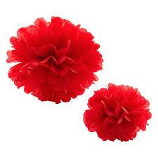 Tissue Paper Pom Pom 30cm - Red