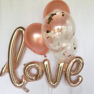 "Foil Balloon ""Love"" Rose Gold *Air fill only*"