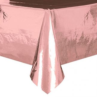 Foil Table Cover Rectangle - Rose Gold