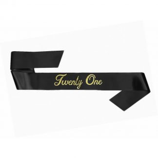21st Bday Sash - Black