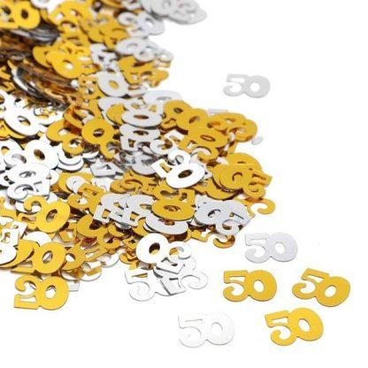 Scatter Confetti 50 Gold/Silver