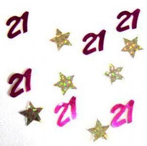 Scatter Confetti 21 Fuchsia with Stars