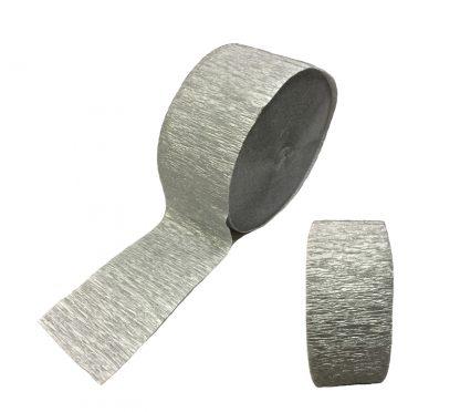 Crepe Streamers Shimmering Silver 6pk