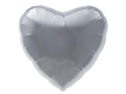 Foil Balloon Silver Heart