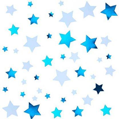 Scatter Confetti Star - Blue Mix