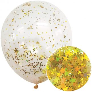 Star Glitter Balloons 3pk - Gold