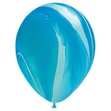 Balloon Single Blue Marble