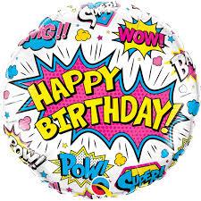 "Superhero ""Happy Birthday"" Foil Balloon"