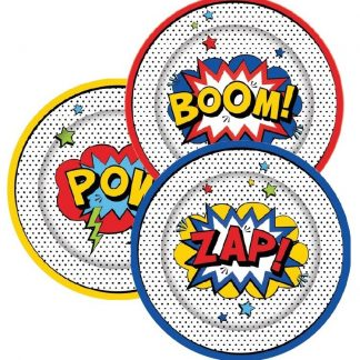 Super Hero Party Paper Plates 8pk