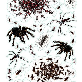 Halloween Swarm of Bugs Print Clings