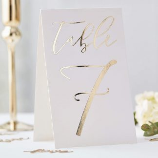 Gold Table Numbers 12pk