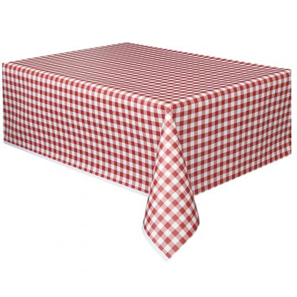 Plastic Table Cover Rectangle - Checkered