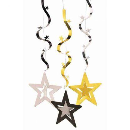 Wavy Hanging Stars