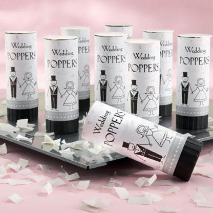 Confetti Wedding Popper - White