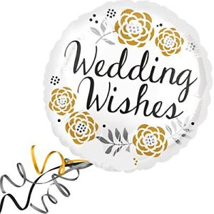 Foil Balloon Wedding Wishes