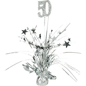 Spangle Table Centerpiece - 50th