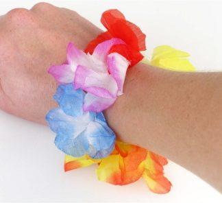 Hawaiian Luau Flower Bracelet 2pk