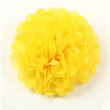 Tissue Paper Pom Pom 40cm - Yellow