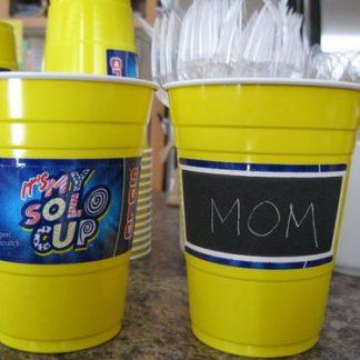 Yellow Plastic Cups 22pk - Solo 18oz Personalize